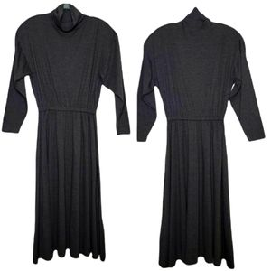 Vintage FADS Mock Neck Maxi Sweater Dress, Size XL